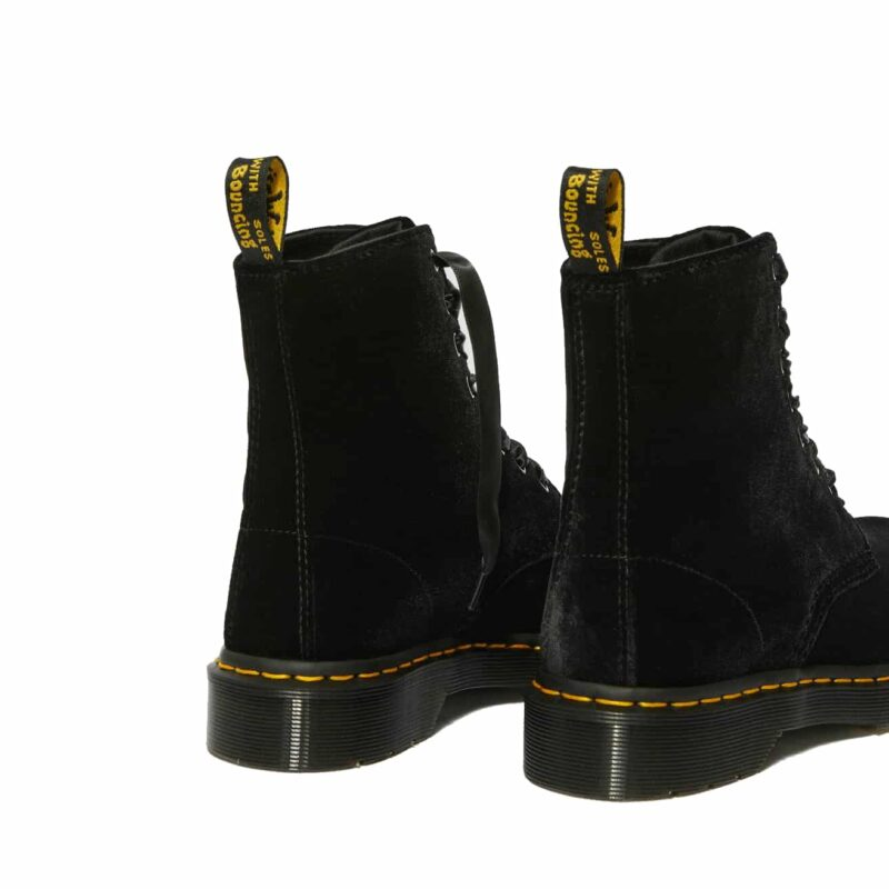 Dr. Martens 1460 Black Pascal Velvet 8-Eye Boot 5