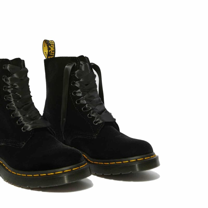 Dr. Martens 1460 Black Pascal Velvet 8-Eye Boot 3