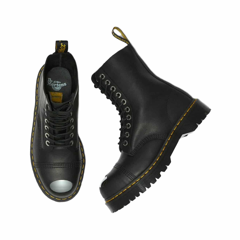 doc martin steel toe cap shoes