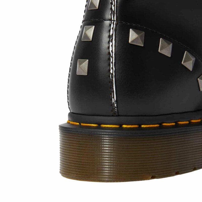 1460/25202001 Black Stud Vintage Smooth 8-Eye Boot 5