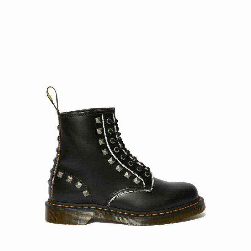 1460/25202001 Black Stud Vintage Smooth 8-Eye Boot 3
