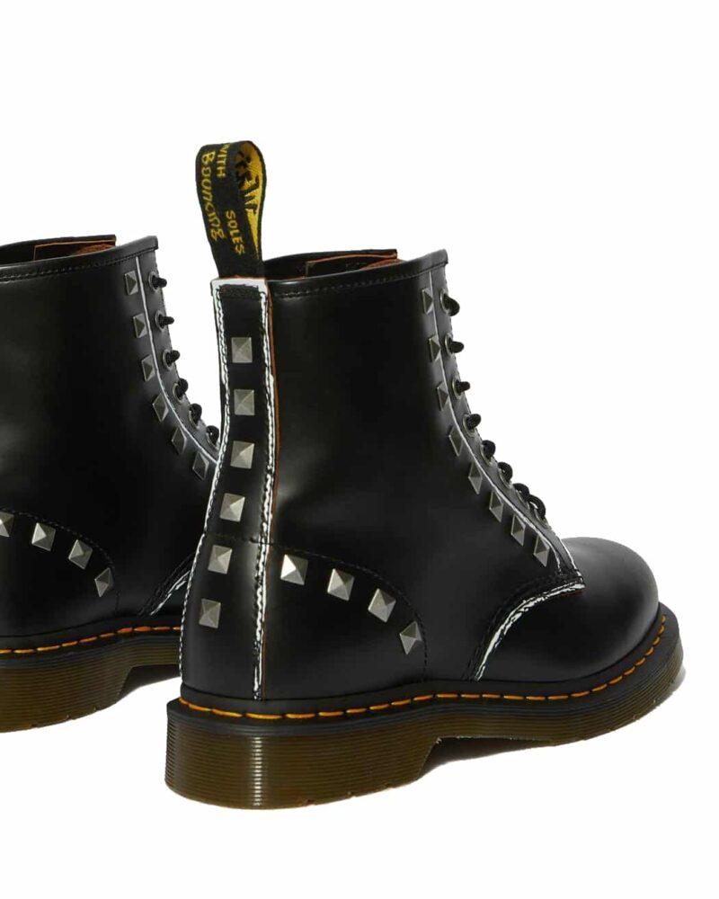 1460/25202001 Black Stud Vintage Smooth 8-Eye Boot 4