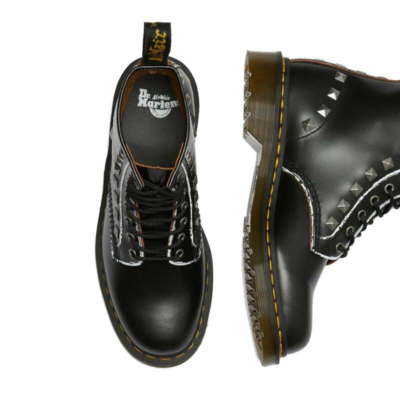 1460/25202001 Black Stud Vintage Smooth 8-Eye Boot 7