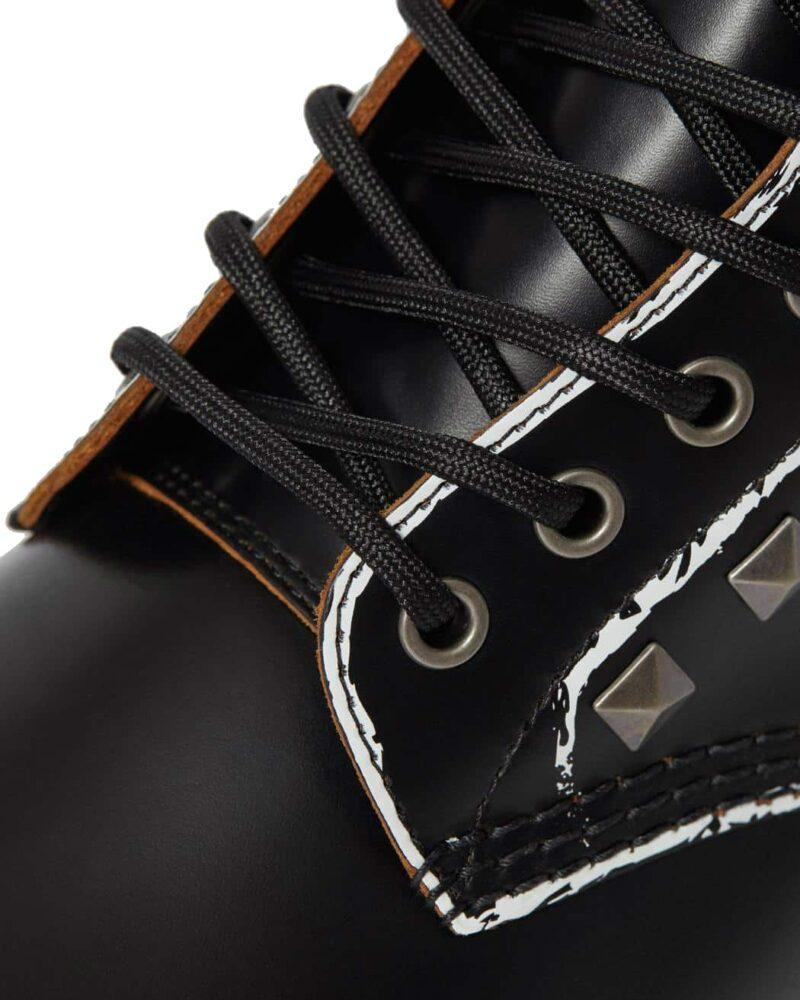 1460/25202001 Black Stud Vintage Smooth 8-Eye Boot 2