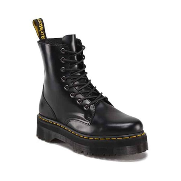 Black Jadon Platform 8-Eye Boot