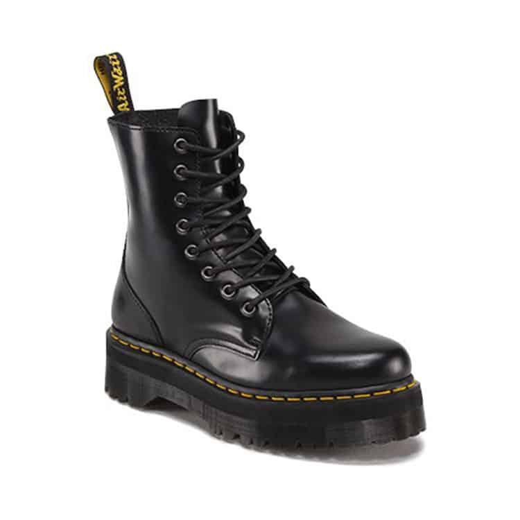 Black Jadon Platform 8-Eye Boot