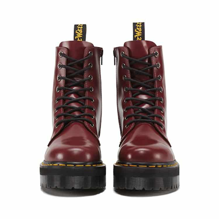 Dr. Martens Cherry Red Jadon Platform 8-Eye Boot 2