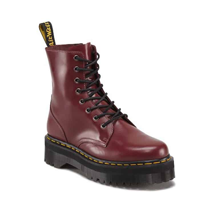 Cherry Red Jadon Platform 8-Eye Boot
