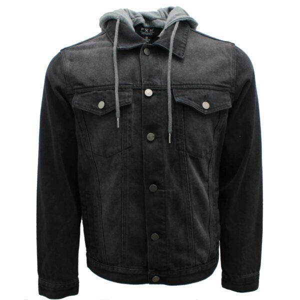 Denim Jacket w/ Detachable Hoodie