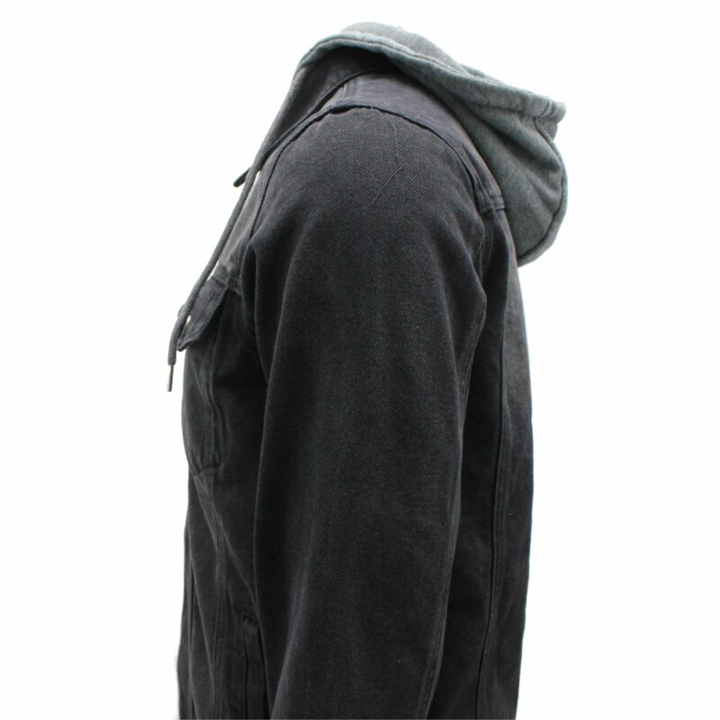 Black Denim Jacket w/ Detachable Hoodie 2