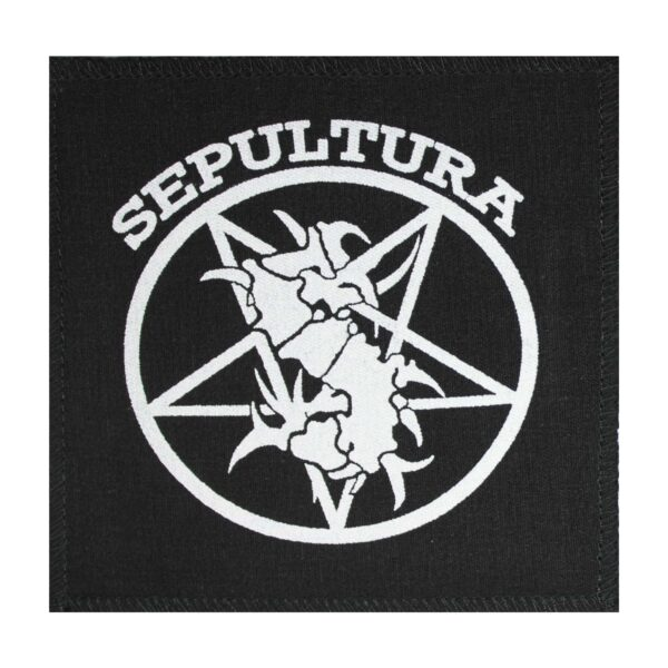 Sepultura White Cloth Patch