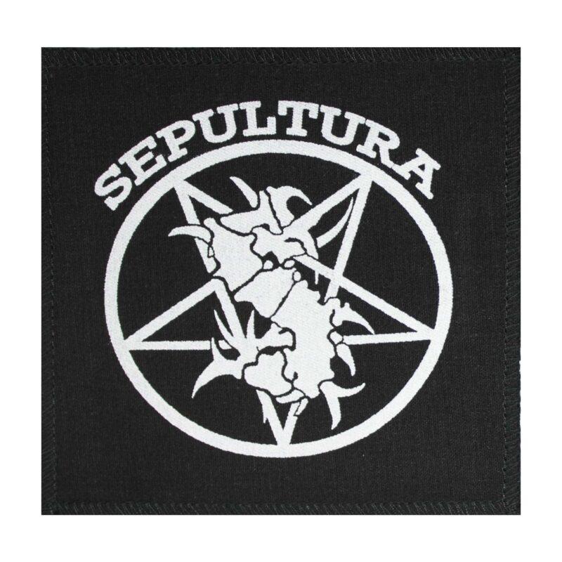 Sepultura White Cloth Patch
