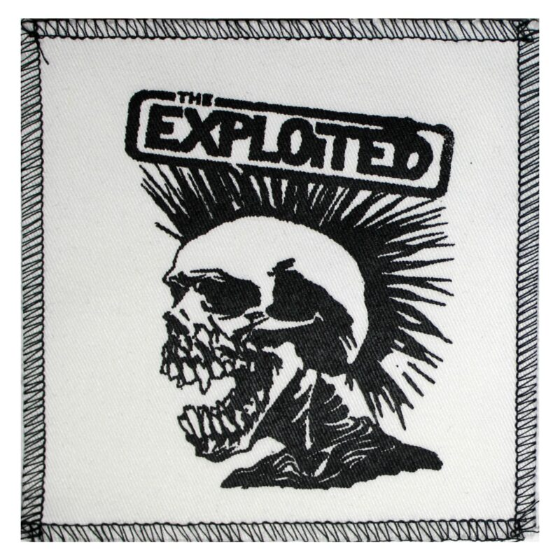 The Exploited Skull Cloth Patch