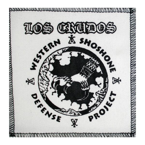 Los Crudos Manumission White Cloth Patch