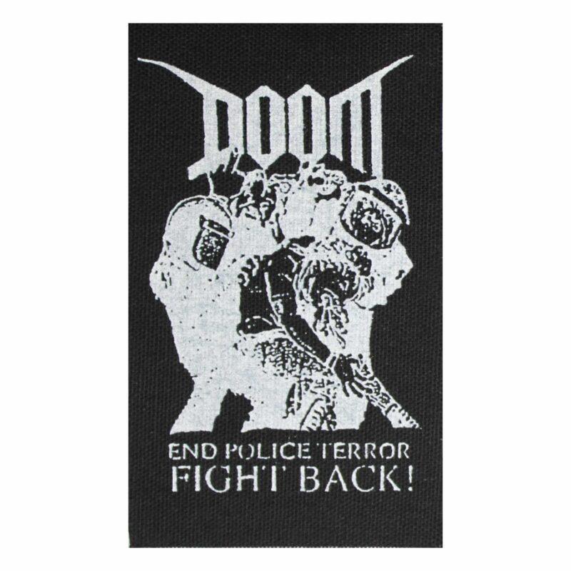 Doom End Police Terror Cloth Patch