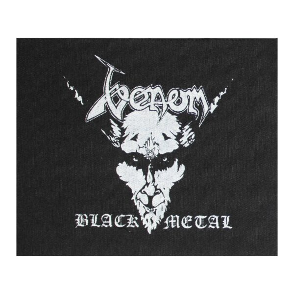 Venom Black Metal Cloth Patch