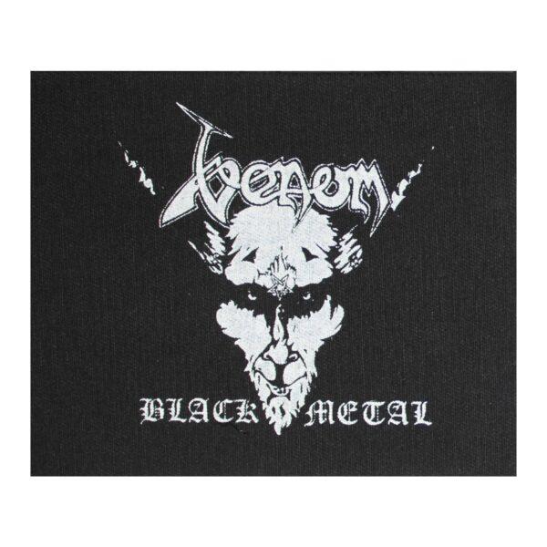Venom Black Metal Cloth Patch
