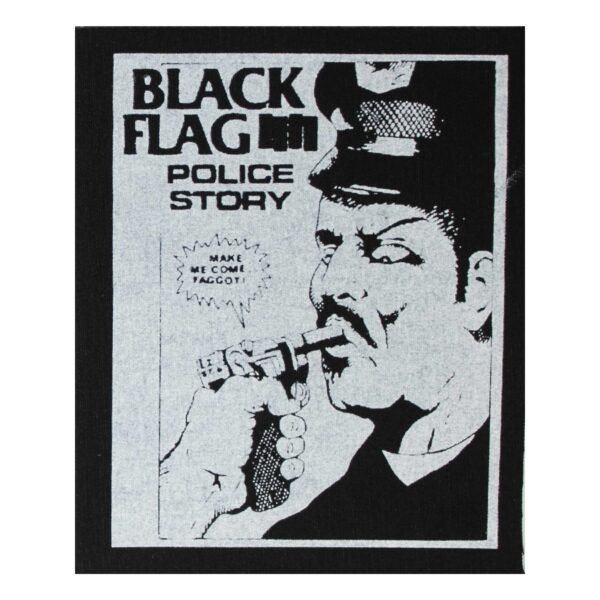 Black Flag Police Story Cloth Patch