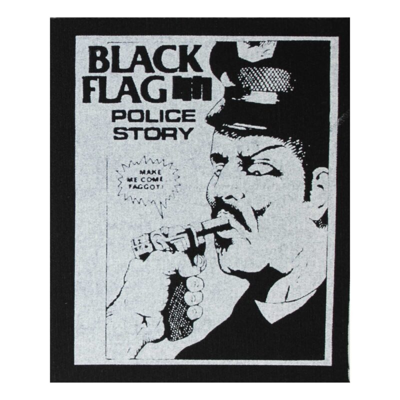 Black Flag Police Story Cloth Patch