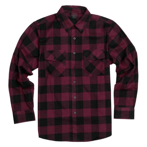 Burgundy and Black Plaid Flannel