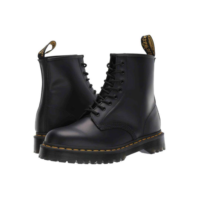1460 Black BEX Platform 8-Eye Boot
