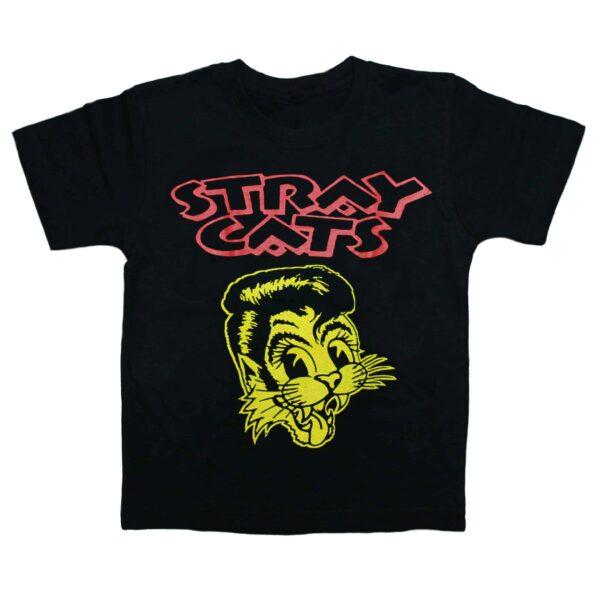 Stray Cats Kids Black T-Shirt
