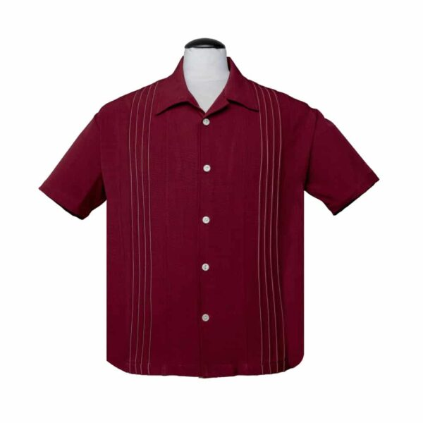 Burgundy Bowling Shirt by Steady Clothing