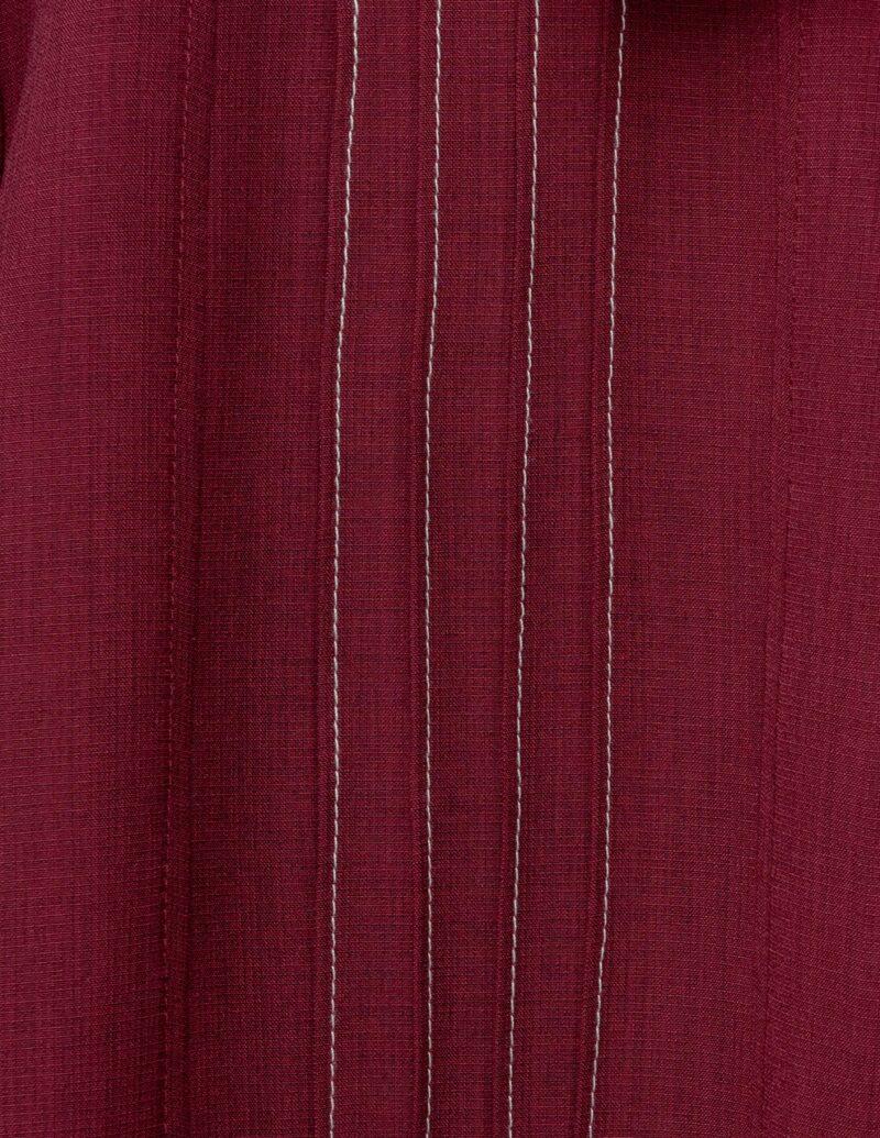 Burgundy Bowling Shirt by Steady Clothing 1
