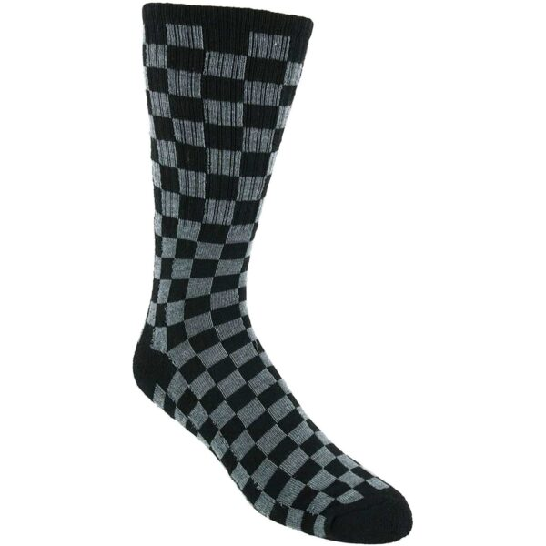 Black and Gray Checkered socks