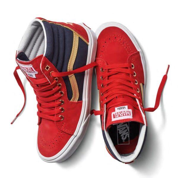 Vans Sk8-Hi Captain Marvel Shoe - Red