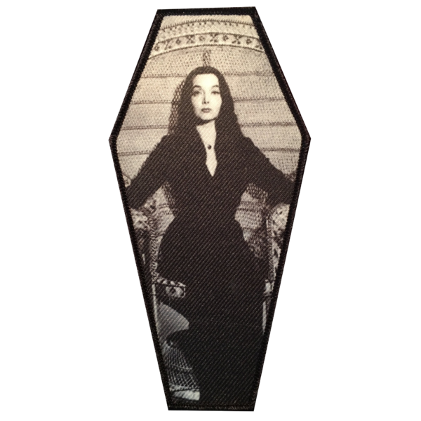 Morticia Coffin Embroidered Patch