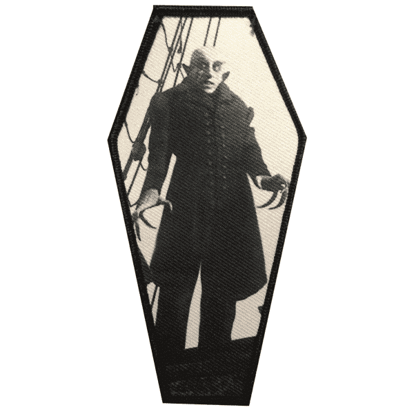 Nosferatu Coffin Embroidered Patch