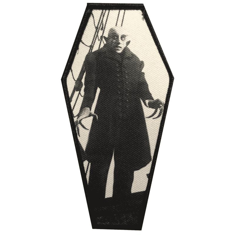 Nosferatu Coffin Embroidered Patch