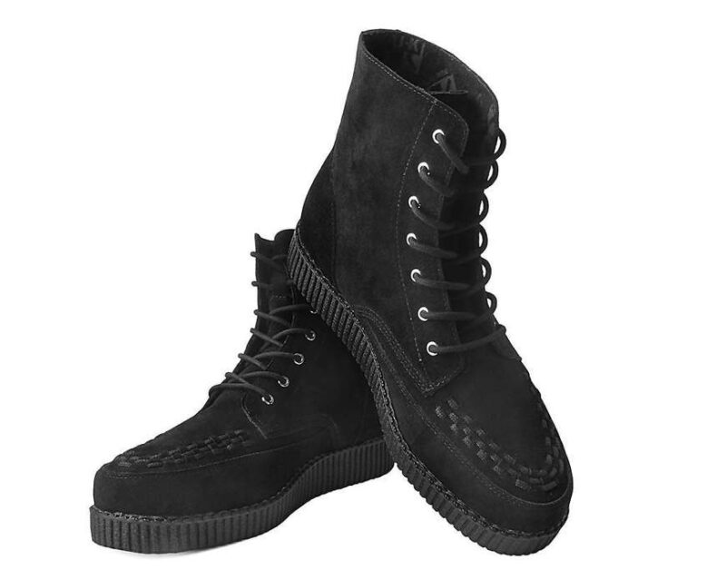 TUK Black Suede Creeper Boot 2
