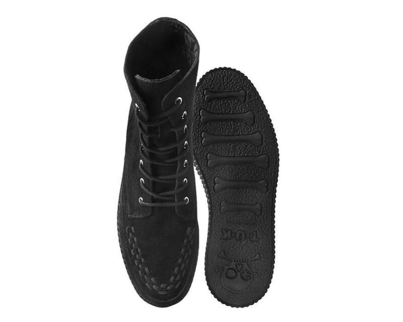 TUK Black Suede Creeper Boot 3