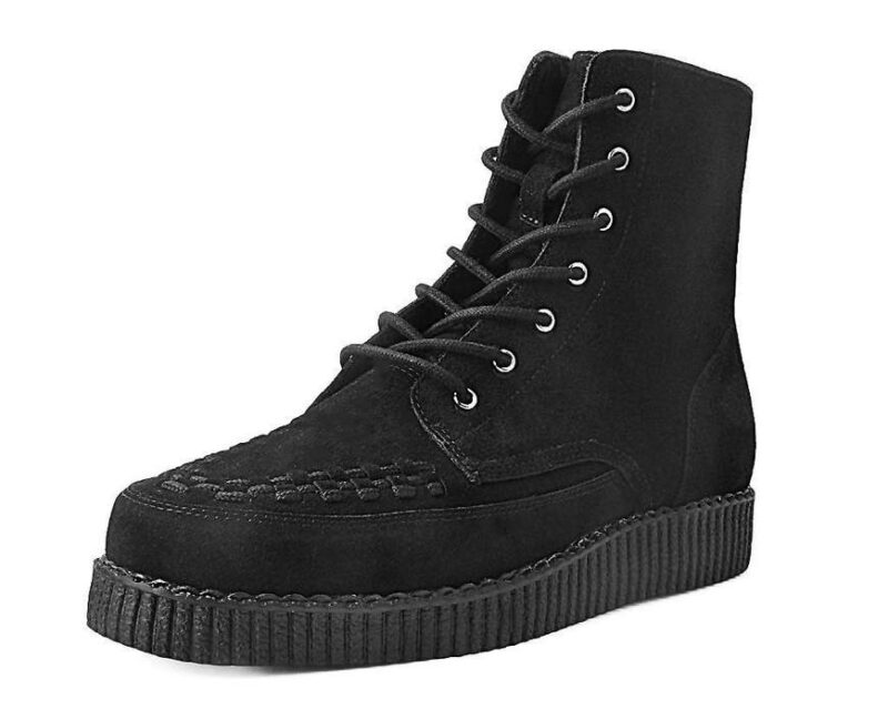 TUK Black Suede Creeper Boot