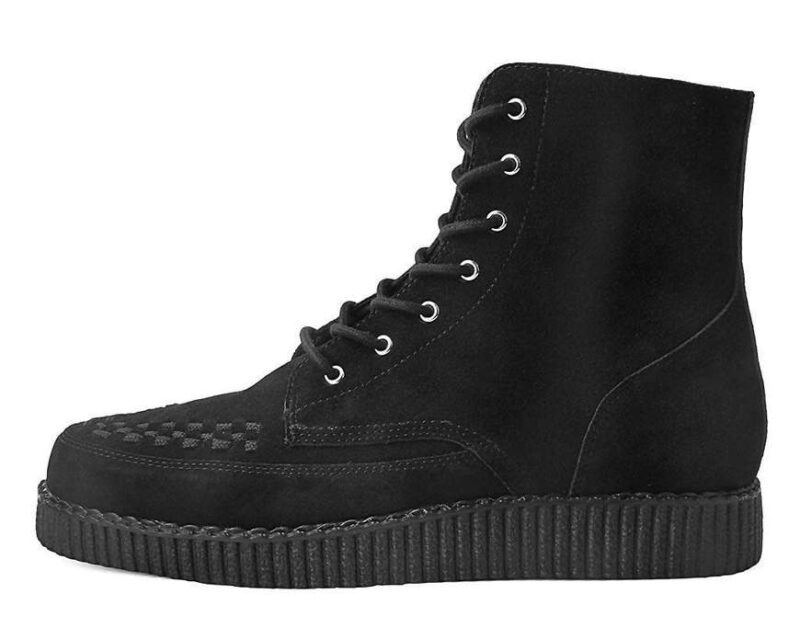 TUK Black Suede Creeper Boot 1