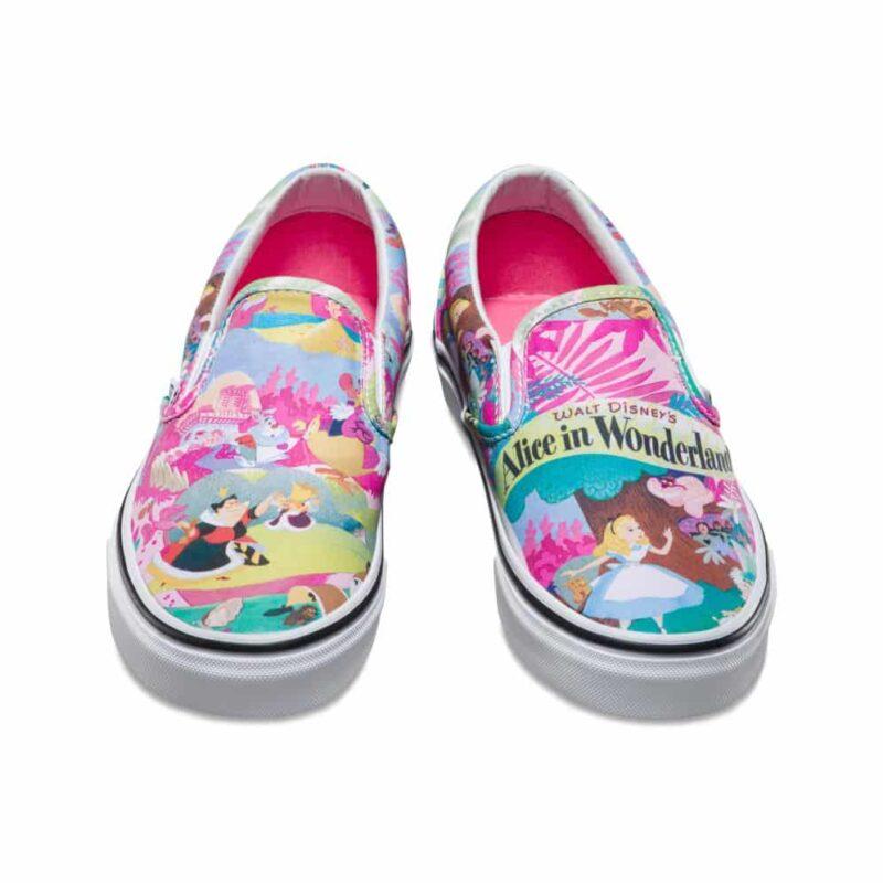 Vans Disney Classic Slip-On Alice in Wonderland Shoe Pink 4