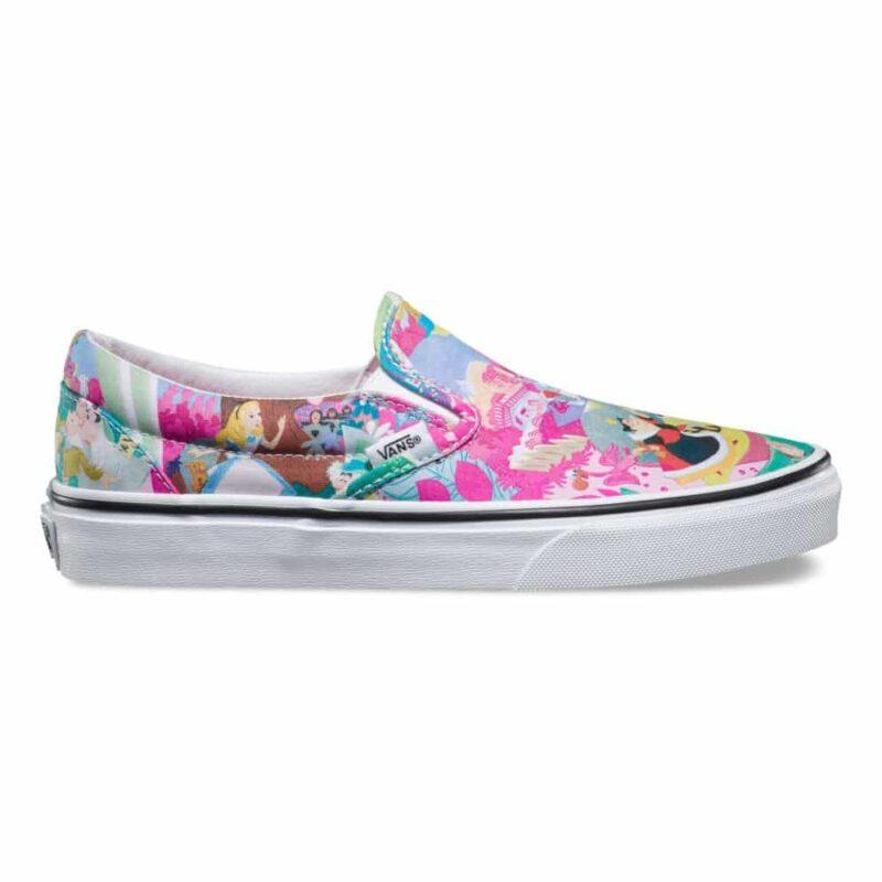 Vans Disney Classic Slip-On Alice in Wonderland Shoe Pink 1