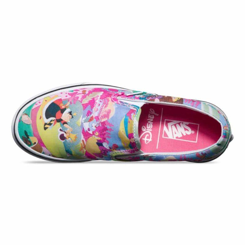 Vans Disney Classic Slip-On Alice in Wonderland Shoe Pink 2