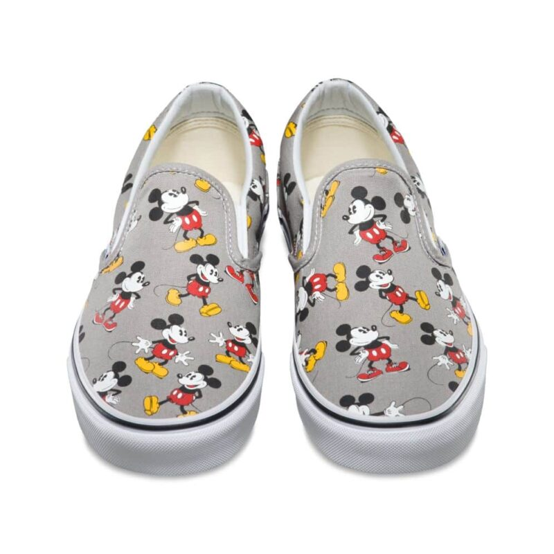 Vans Disney Classic Slip-On Mickey Mouse Shoe Frost Gray 4