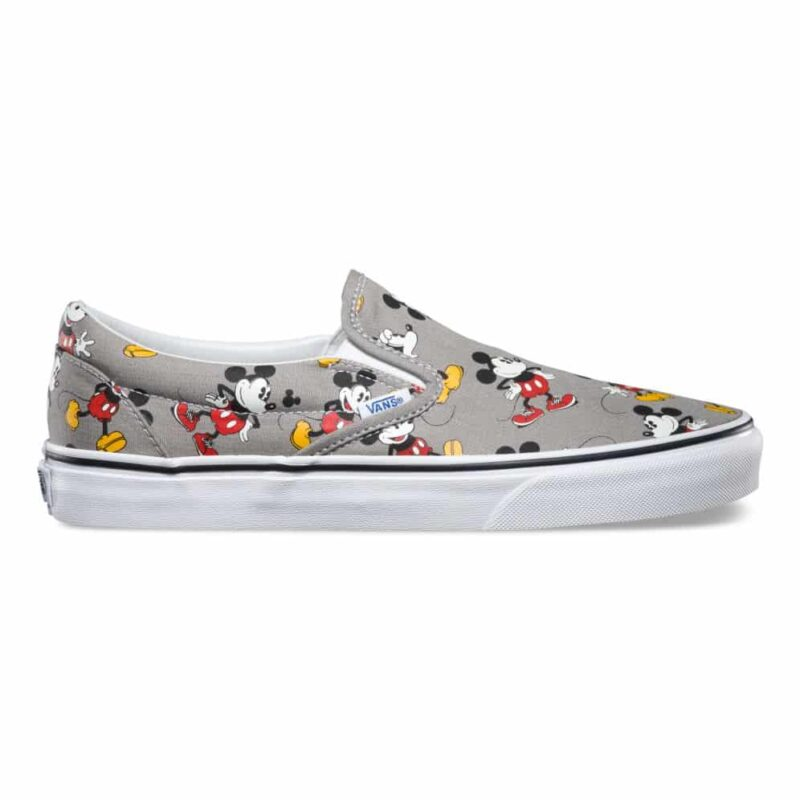 Vans Disney Classic Slip-On Mickey Mouse Shoe Frost Gray 1