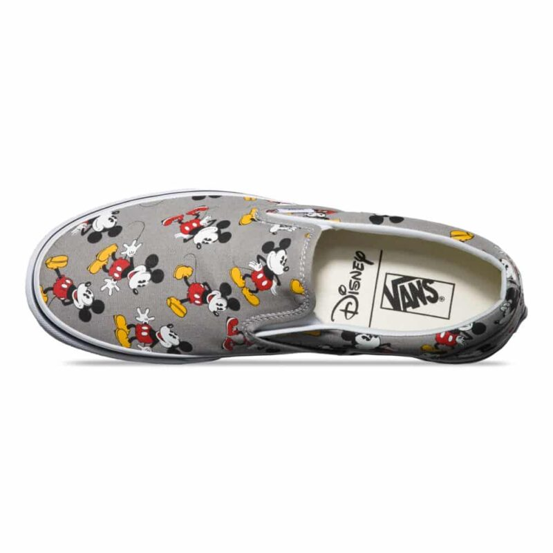 Vans Disney Classic Slip-On Mickey Mouse Shoe Frost Gray 2