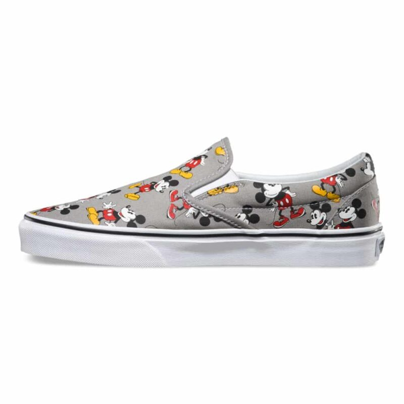 Vans Disney Classic Slip-On Mickey Mouse Shoe Frost Gray 3