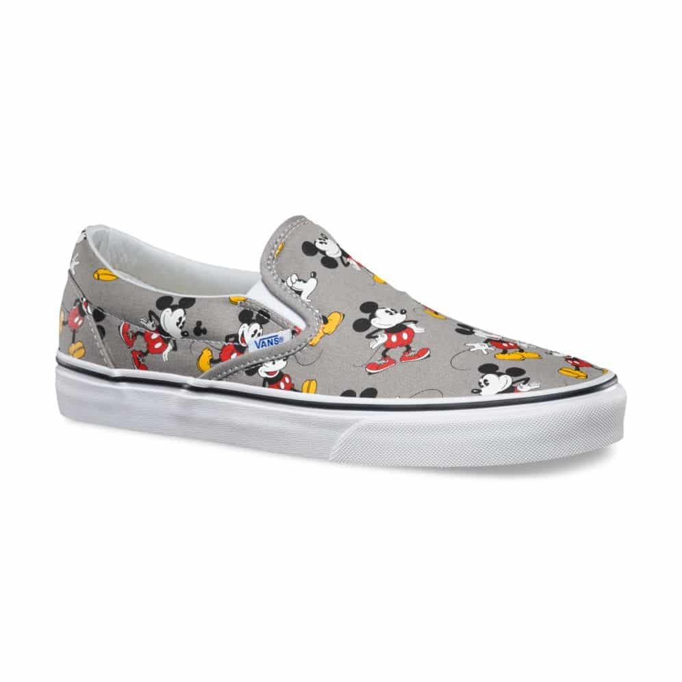 Pasado Refrigerar calcular  Vans Disney Classic Slip-On Mickey Mouse Shoe Frost Gray - Red Zone Shop