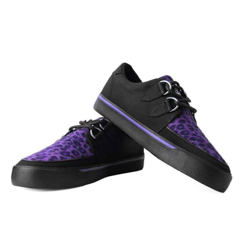 TUK Purple Leopard Sneaker Creeper A9690 1