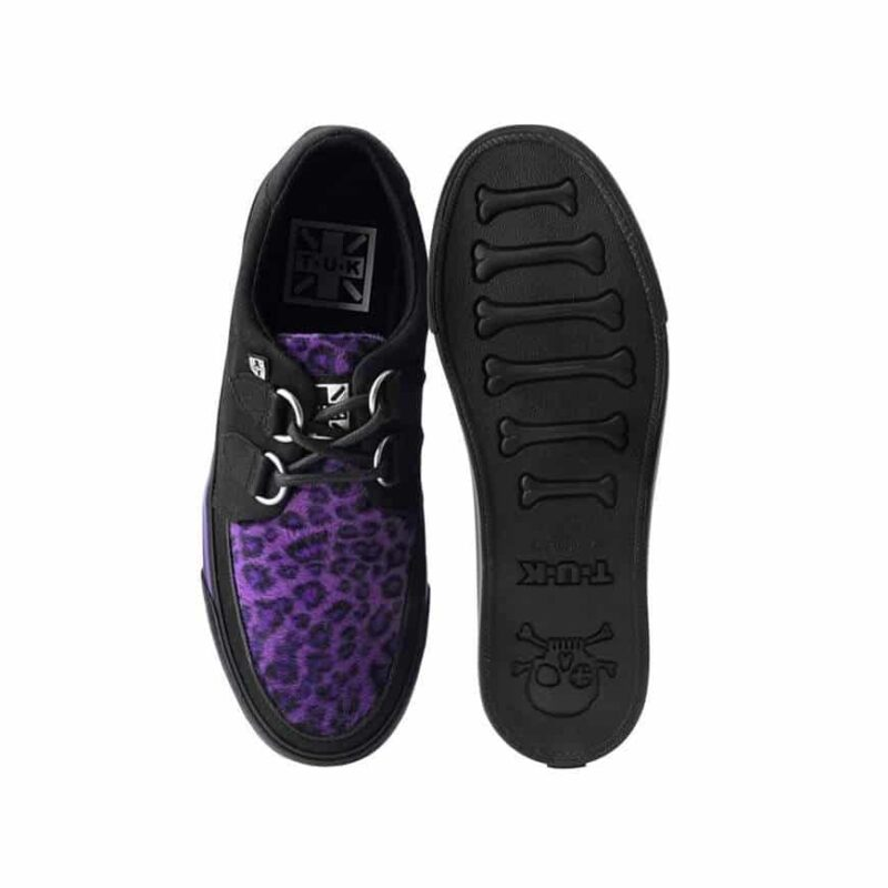 TUK Purple Leopard Sneaker Creeper A9690 3