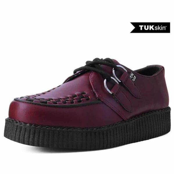 TUK Burgundy Vegan Low Sole Creeper F9537