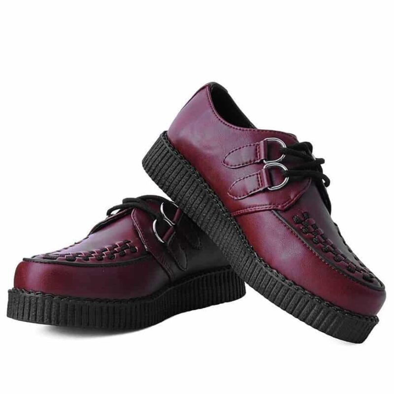 TUK Burgundy Vegan Low Sole Creeper F9537 1