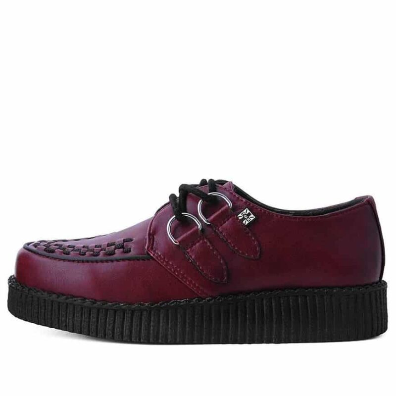 TUK Burgundy Vegan Low Sole Creeper F9537 2